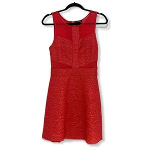 Marineblu Fit and Flare Sleeveless Dress Red S NWT